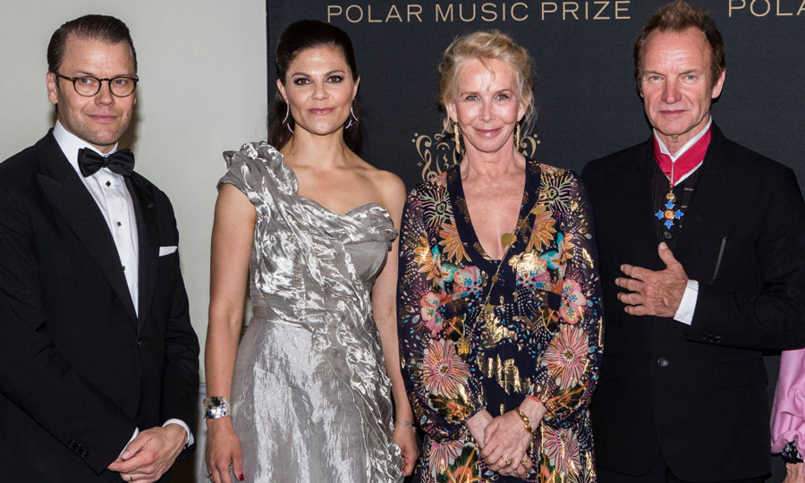 Sting and his wife Trudie Styler were among the guests who met with Crown Princess Victoria and Prince Daniel at the Polar Music Prize awards ceremony in Stockholm, Sweden on June 15, 2017.