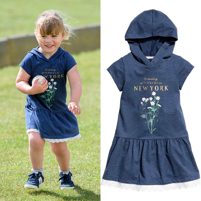 Mia Tindall is one of the cutest members of the royal family – and maybe even the most budget-friendly! Queen Elizabeth's great-granddaughter accompanied her parents Mike and Zara Tindall to the Gloucester Polo Festival in June 2017 wearing this adorable $12.99 <b>H&M</B> dress.
