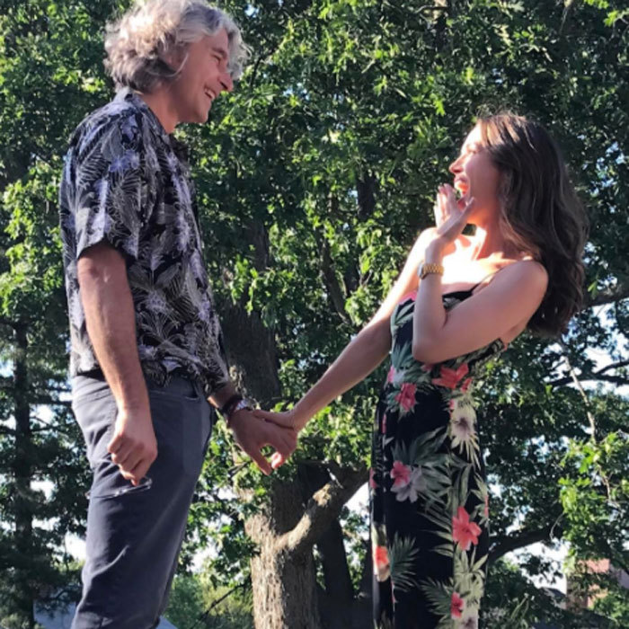 <b>Eliza Dushku and Peter Palandjian</b>