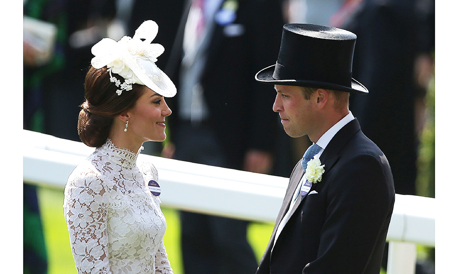 Despite being surrounded by the throngs of racegoers William and Kate at times looked to be in a world of their own.