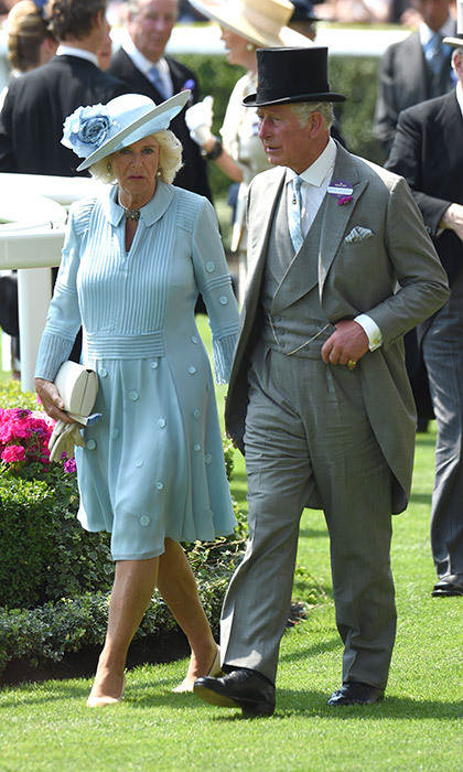 Prince Charles, who also accompanied his mother to the State Opening of Parliament that day, was joined by his wife Camilla, Duchess of Cornwall on Day Two of Ascot.