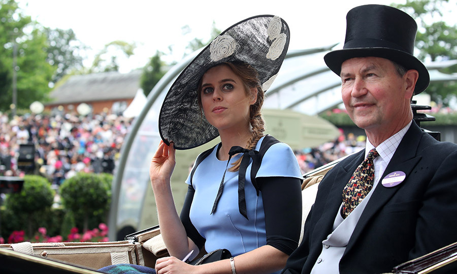 Hat's off to Princess Beatrice's style! The royal was looking chic as she arrived by carriage on Ladies' Day, wearing a wide brimmed topper and a braided hairstyle. 