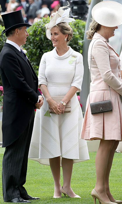 The Queen's daughter-in-law Sophie, Countess of Wessex was also spotted enjoying the scene. 