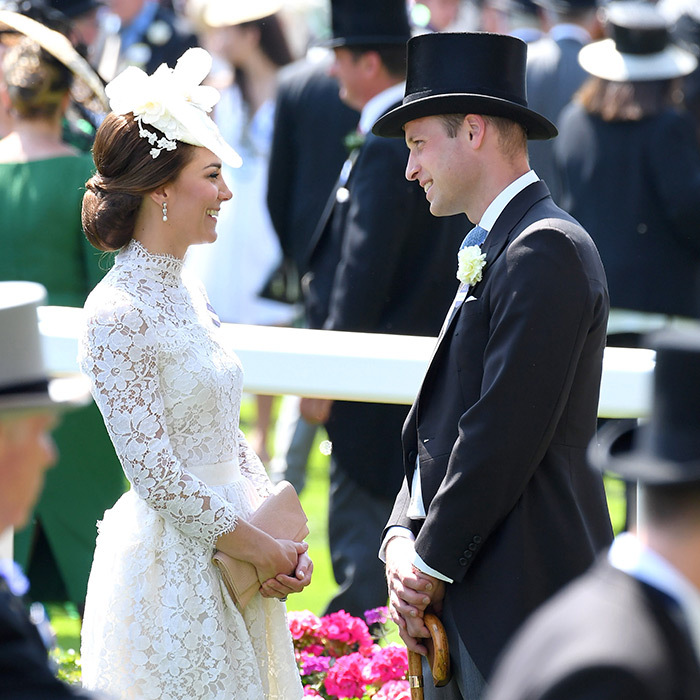 During the excitement of Ascot, the Duke and Duchess of Cambridge stole a moment for this sweet look of love.