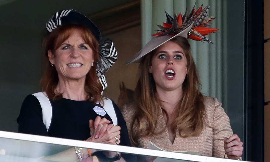 Princess Beatrice was spotted with her mom Sarah, Duchess of York cheering on their faves as they watched the King Edward VII Stakes at Ascot.