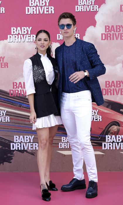 Eiza Gonzalez and Ansel Elgort brought the chill factor to Madrid for the <i>Baby Driver</i> premiere.