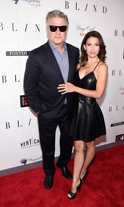 Alec Baldwin and Hilaria Baldwin, who stunned in a sultry black dress, hit the carpet for <i>Blind</i> in NYC.
