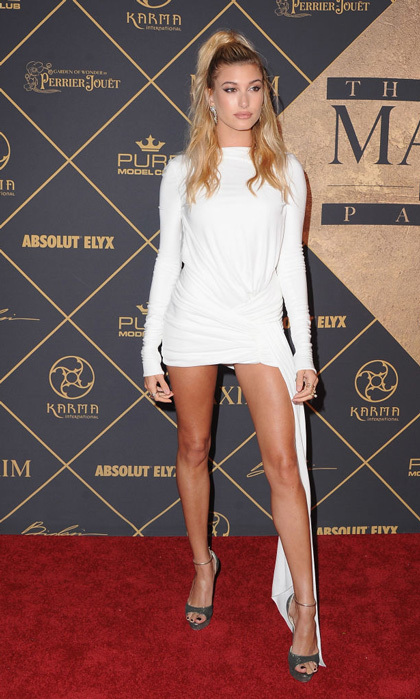 Hailey Baldwin celebrated being named the World's Sexiest Woman by Maxim at the party in L.A. 