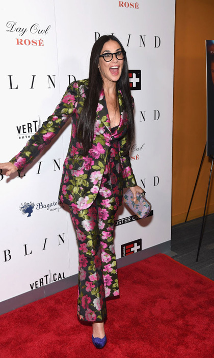 Demi Moore was all smiles in her floral matching set at the <i>Blind</i> movie premiere in NYC. She then continued the evening at Bagatelle for the after party where guests enjoyed cocktails with Casa Noble Tequila.