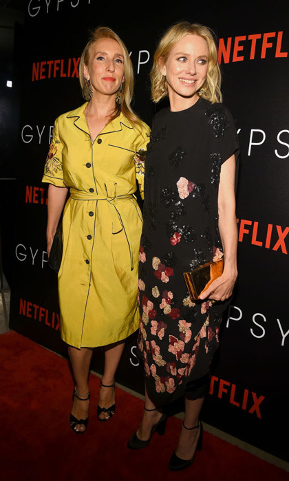 Sam Taylor-Johnson and Naomi Watts, in Valentino, stepped out for the premiere of Netflix's latest <i>Gypsy</i> in NYC.