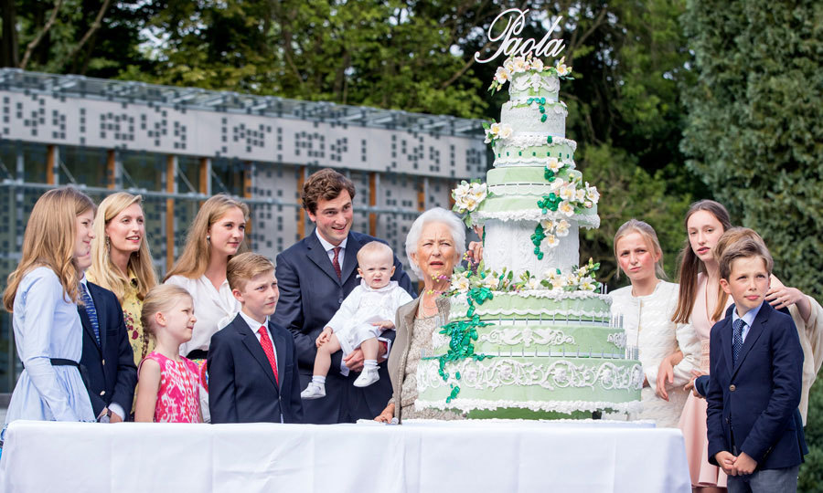 Queen Paola of Belgium's 80th birthday was a family affair. While King Philippe's mother's birthday isn't until September 11, the Belgian royal family came together to celebrate early in Waterloo, Belgium. 