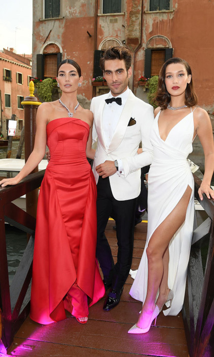 Lily Aldridge, Jon Kortajarena and Bella Hadid took over the canals of Venice in style for the Bvlgari Party at Scuola Grande della Misericordia.
