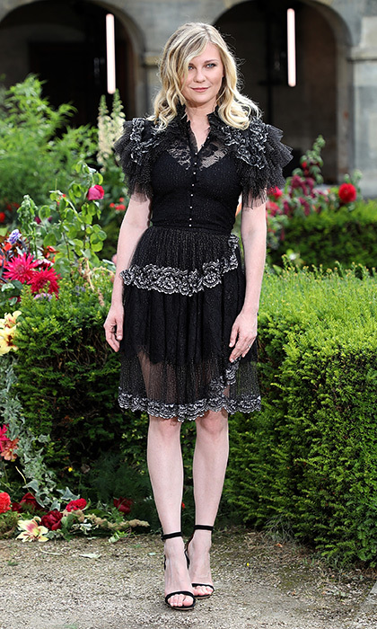 Kirsten Dunst was looking lovely in Rodarte at the fashion house's couture presentation. 