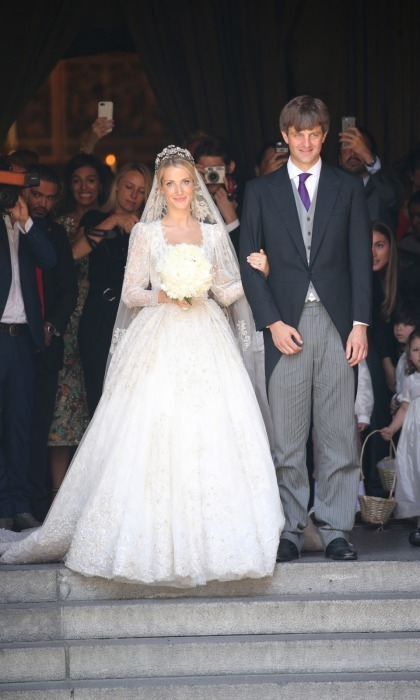 Princess Caroline of Monaco's stepson Prince Ernst-August Jr. and his fiancé Ekaterina Malysheva were married in July 2017. 