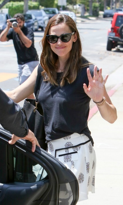 Jennifer Garner was all smiles while out and about in Los Angeles following the news of ex-husband Ben Affleck's new relationship on July 9. 