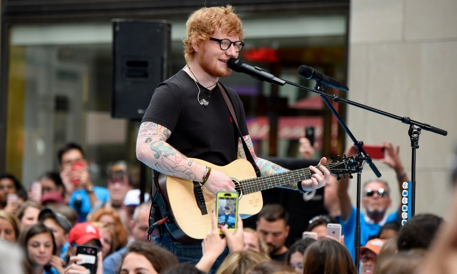 Sing! Ed Sheeran performed some of his latest hits including, <i>Galway Girl</i> and <i>Castle on the Hill</i> during his stop at the <i>Today Show</i> Citi Concert series in NYC on July 6. 