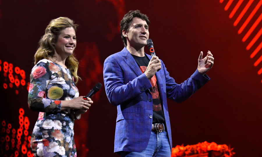 Justin and Sophie Trudeau took the stage during the Global Citizen Festival in Hamburg, Germany on July 6.