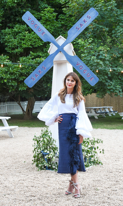 Keri Russell showed off the perfect summer ensemble for the dinner party she hosted with Saks Fifth Avenue in the Hamptons on July 6.
