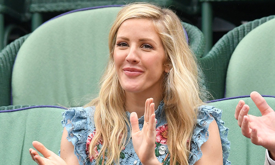 Ellie Goulding was on hand for the fun at the All England Lawn Tennis and Croquet Club on July 11.