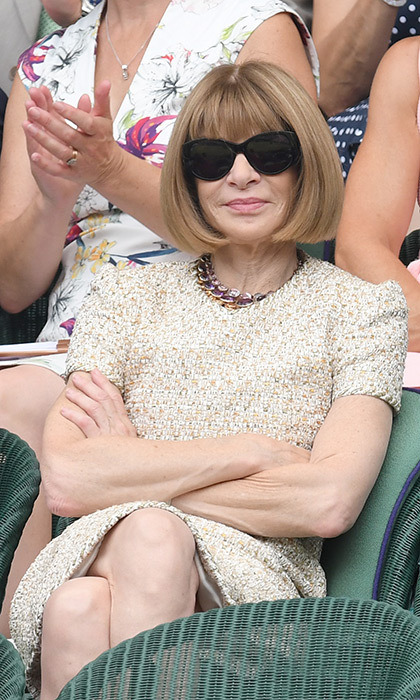 Anna Wintour was looking stylish – of course – courtside.