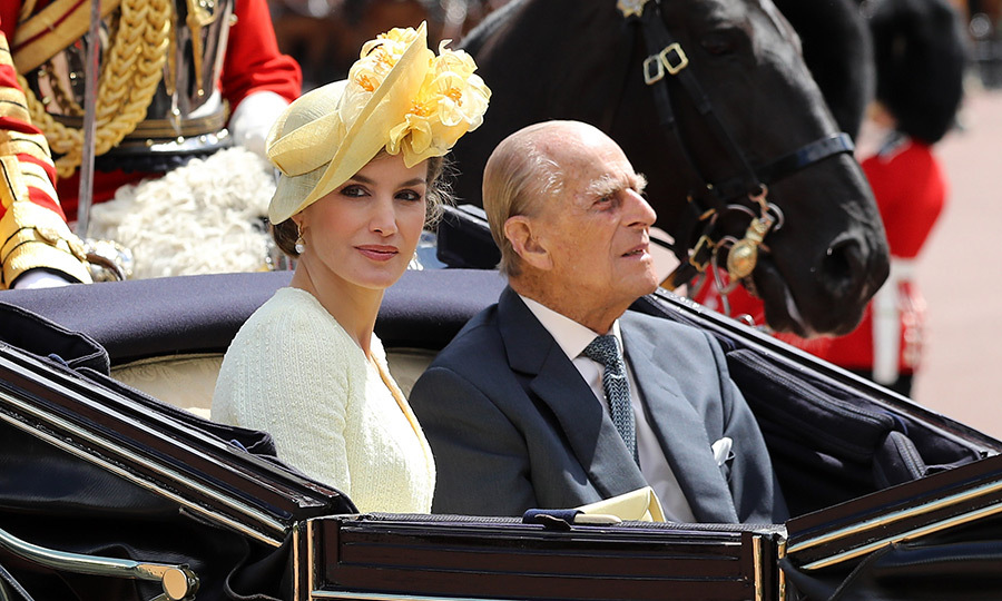 Queen Letizia was accompanied by the Duke of Edinburgh.