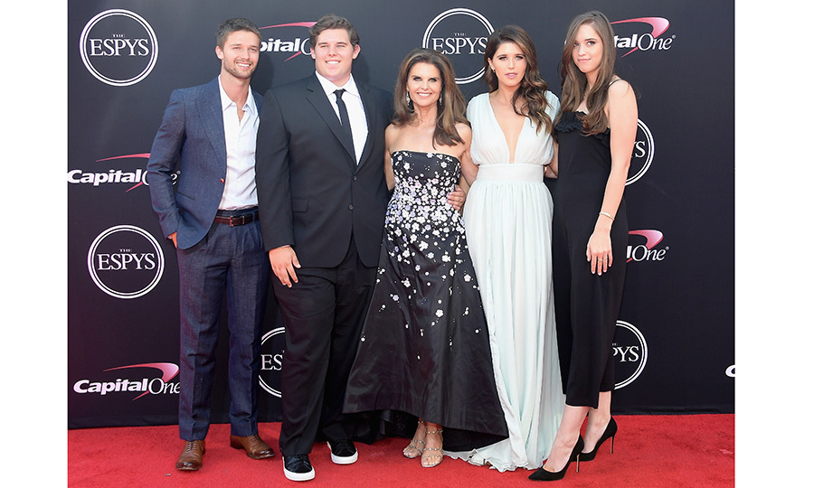 Also on the scene at the ESPYS was Maria Shriver with her children Patrick, Christopher, Katherine and Christina Schwarzenegger.