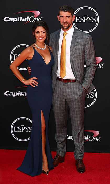 Olympic champ Michael Phelps was looking dapper as he escorted his wife Nicole.