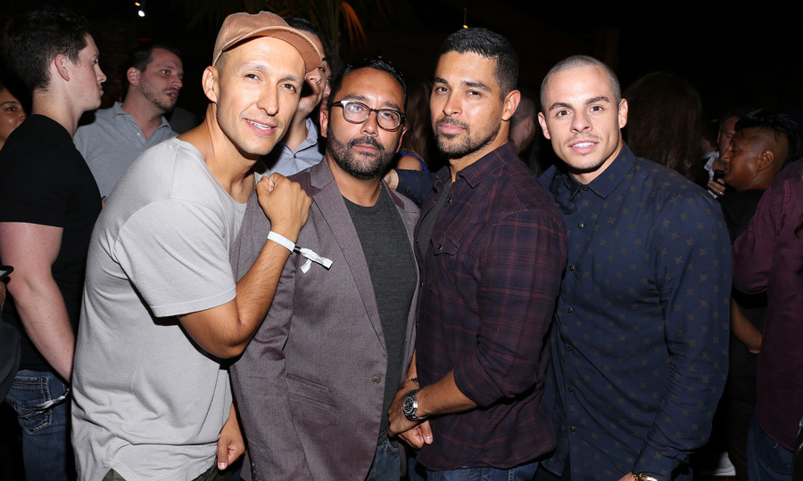 DJ Vice, Jeremy Piven, Wilmer Valderrama and Casper Smart had a boys' night out in Hollywood at the opening of The Highlight Room at the Dream hotel.
