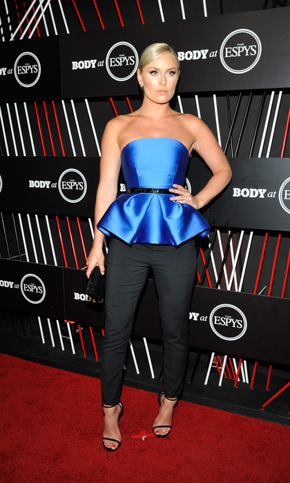 Lindsey Vonn went for a sleek look for the BODY at ESPYS celebration at Avalon Hollywood on July 11.