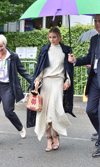 Olivia Palermo was escorted into the stadium to watch the women's final.