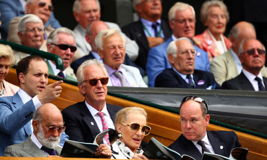 Prince Albert of Monaco also made a royal appearance at the final with Princess Michael of Kent.