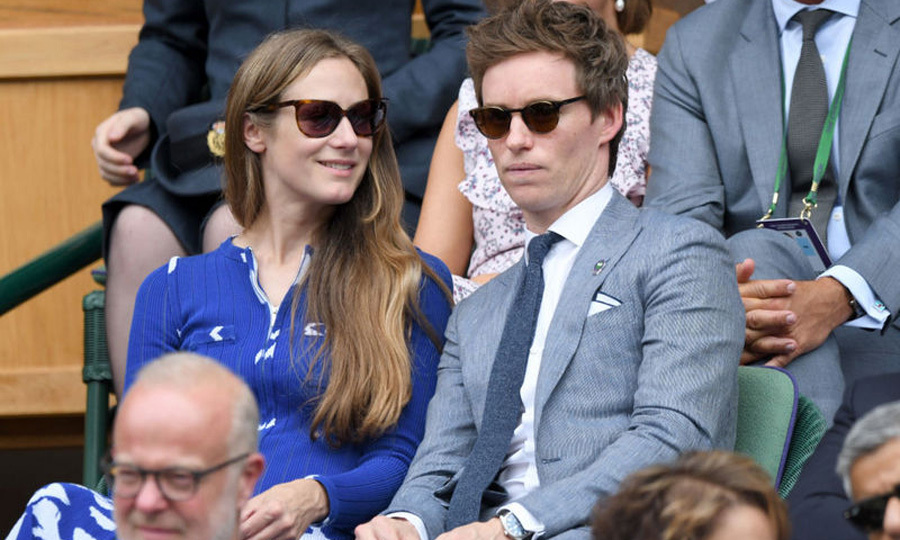 Eddie Redmayne and his wife Hannah enjoyed a Sunday together at Wimbledon.