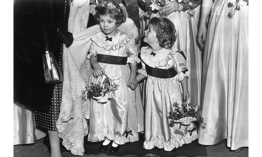 The Duchess of Cornwall was born Camilla Rosemary Shand on July 17, 1947 at King's College Hospital in London. She was the first child of parents Major Bruce Shand and his wife, the Honourable Rosalind Shand. Here, four-year-old Camilla, left, is seen as a flower girl with her little sister Annabelle. 
