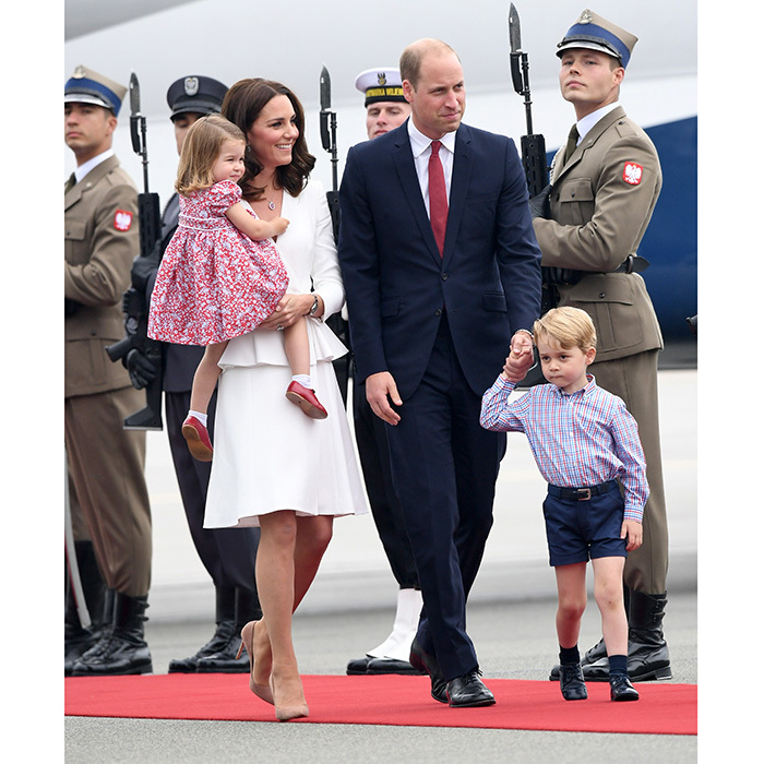 William and Kate decided to bring their children, Princess Charlotte and Prince George on tour with them to Poland and Germany.