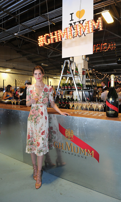 Model Hilary Rhoda celebrated the inaugural ePrix race in Brooklyn, New York with G.H. Mumm. Leonardo DiCaprio and Chris Hemsworth were also in attendance for the July 16 race.