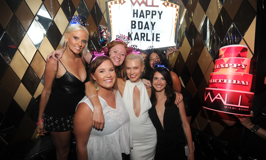 Surprise! Ahead of her 25th birthday on August 3, supermodel Karlie Kloss was treated to an early surprise birthday party on July 15 at Wall Miami.