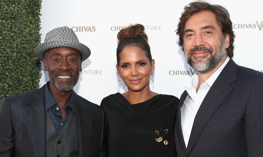 Don Cheadle, Halle Berry and Javier Bardem were photo ready at The Chivas Venture $1m Global Startup Competition at LADC Studios on July 13 in L.A.