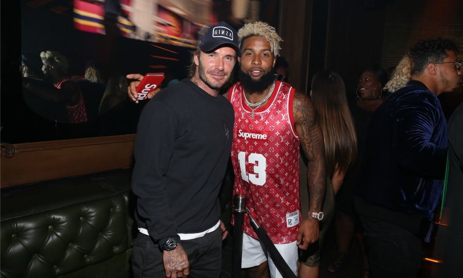 Beckhams unite! David Beckham and Odell Beckham Jr. looked extra stylish while celebrating Uninterrupted's third annual after party at Avenue L.A on July 12.