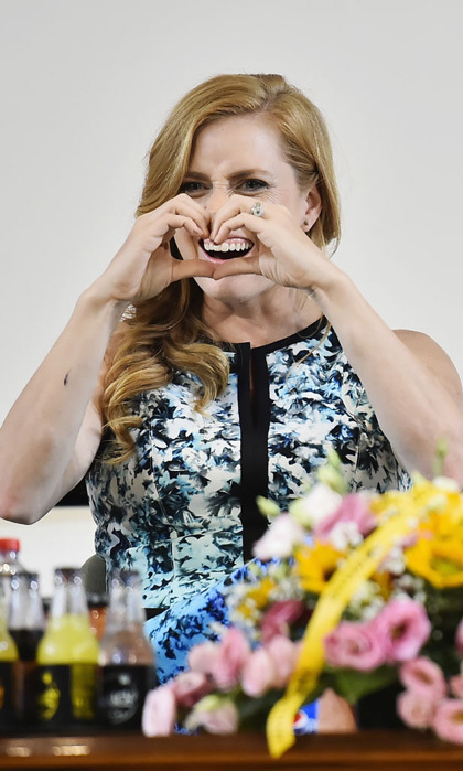 Amy Adams showed her love during the Giffoni Film Festival in Italy on July 18.