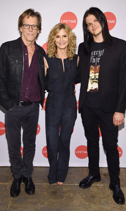 Kevin Bacon and Kyra Sedgwick were joined by their son Travis at the premiere of <i>Story of a Girl</i> in NYC.
