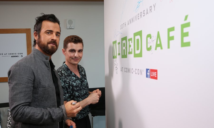 Justin Theroux, left, and Dave Franco of <I>Lego Ninjago</I> signed in at the 2017 WIRED Cafe at Comic Con presented by AT&T Audience Network in San Diego on July 20. 
