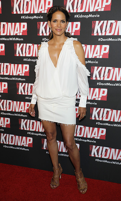 Halle Berry wore summer's coolest shade to the <I>Kidnap</I> screening on July 24 in Miami Beach, Florida.