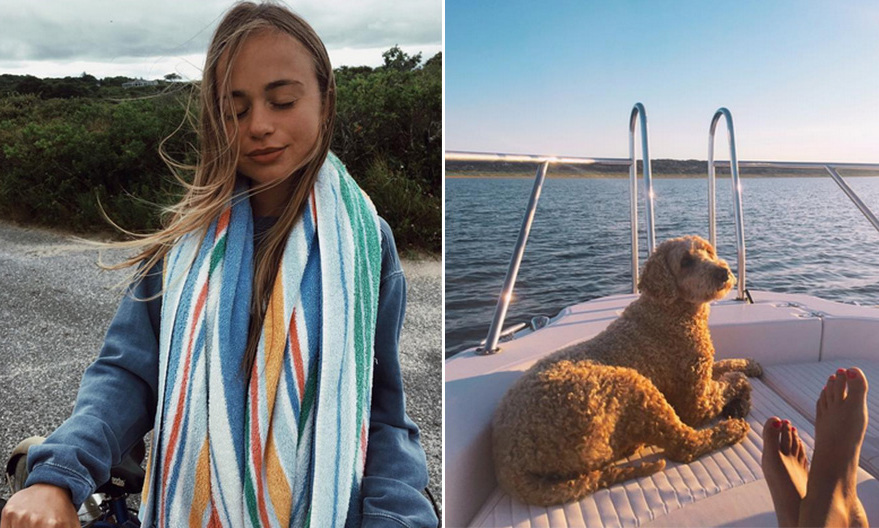 From cycling to boating, British royal Lady Amelia Windsor's East Coast island holiday in Martha's Vineyard looks positively idyllic.
