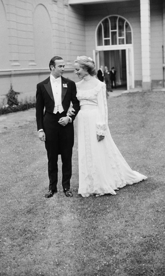 Princess Michael of Kent was another royal bride who opted for simplicity over spectacle when she wed Prince Michael three years before Diana's wedding. 