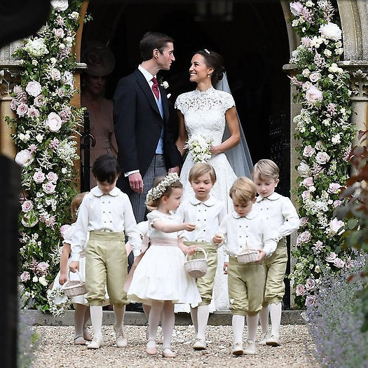 Pippa Middleton's spectacular nuptials, with her couture dress by Giles Deacon and host of attendants, including Prince George and Princess Charlotte, rivaled a royal wedding.
