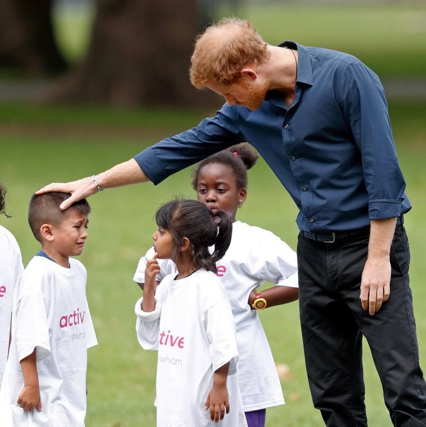 On July 28, Prince Harry comforted a tearful little boy during a StreetGames 'Fit and Fed' summer holiday activity session in Central Park, East Ham in London. The Fit and Fed campaign aims to provide children and young people with free access to activity sessions, with lunch included, throughout summer vacation.