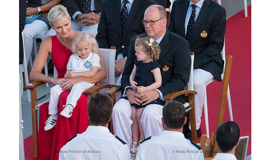 July 2017: The royal twins joined Prince Albert and Princess Charlene aboard the scientifc ship <I>M/V Yersin</I> as it prepared to set off on from Monaco on a three-year scientific exploration campaign around the world.