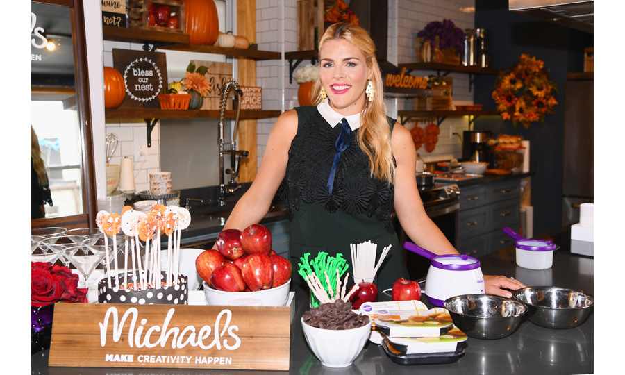 It might still be summer, but Busy Philipps got into the spirit of Halloween hosting Michaels stores' fall event in New York City on July 27.