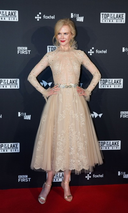 Top of the fashionistas! Nicole Kidman was an ethereal beauty as she waltzed onto the red carpet at the Australian premiere of her new movie <i>Top of the Lake: China Girl</i> at the Sydney Opera House on August 1. 