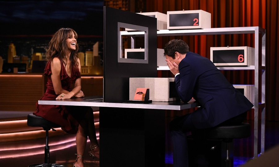 "Halle Berry stopped by the <i>Tonight Show Starring Jimmy Fallon</i> for some fun and games in New York City on August 2. The actress, who was promoting her latest film <i>Kidnap</i>, played a hilarious round of ""Box of Lies.""